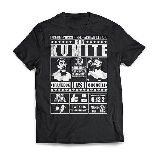 a01086dbfc Moon-Tshirt Mens Multicolored Cotton Biggest Kumite Ever Bloodsport T-Shirt