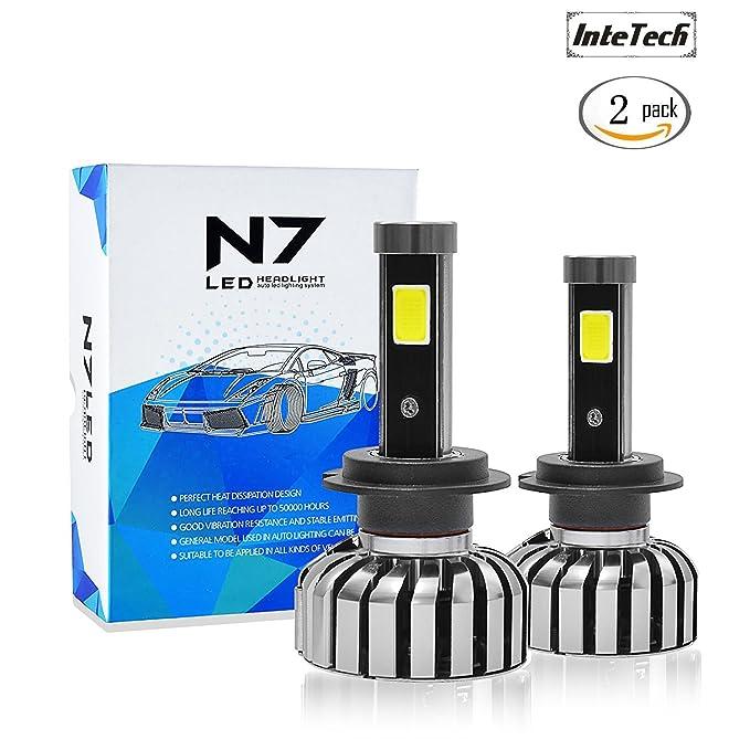3 opinioni per Kit di conversione delle lampadine dei fari del LED H7, InteTech N7 H7 80W