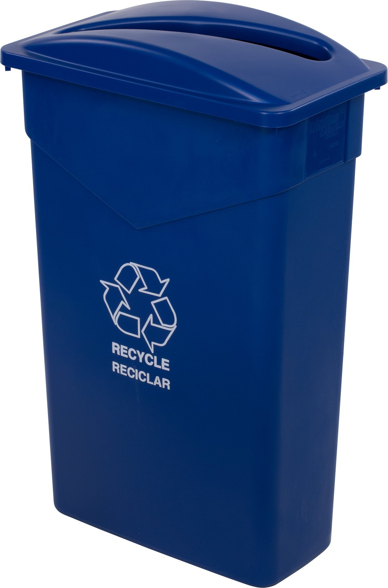 Carlisle 342023REC14 TrimLine LLDPE Recycle Can, 23 Gallon Capacity, 20'' Length x 11'' Width x 29.88'' Height, Blue by Carlisle (Image #6)