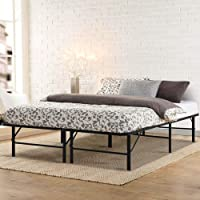 Double Bed Frame, Artiss Foldable Metal Platform Bed Base, Black