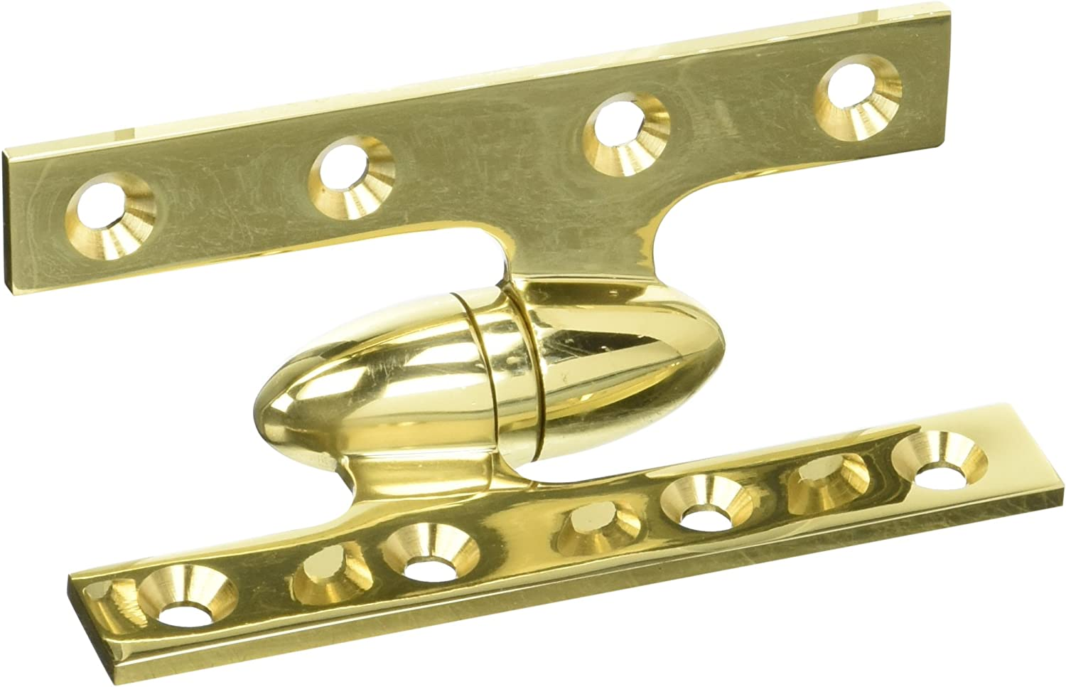 Deltana OK5032B3-R Solid Brass 5-Inch x 3 1//4-Inch Olive Knuckle Hinge