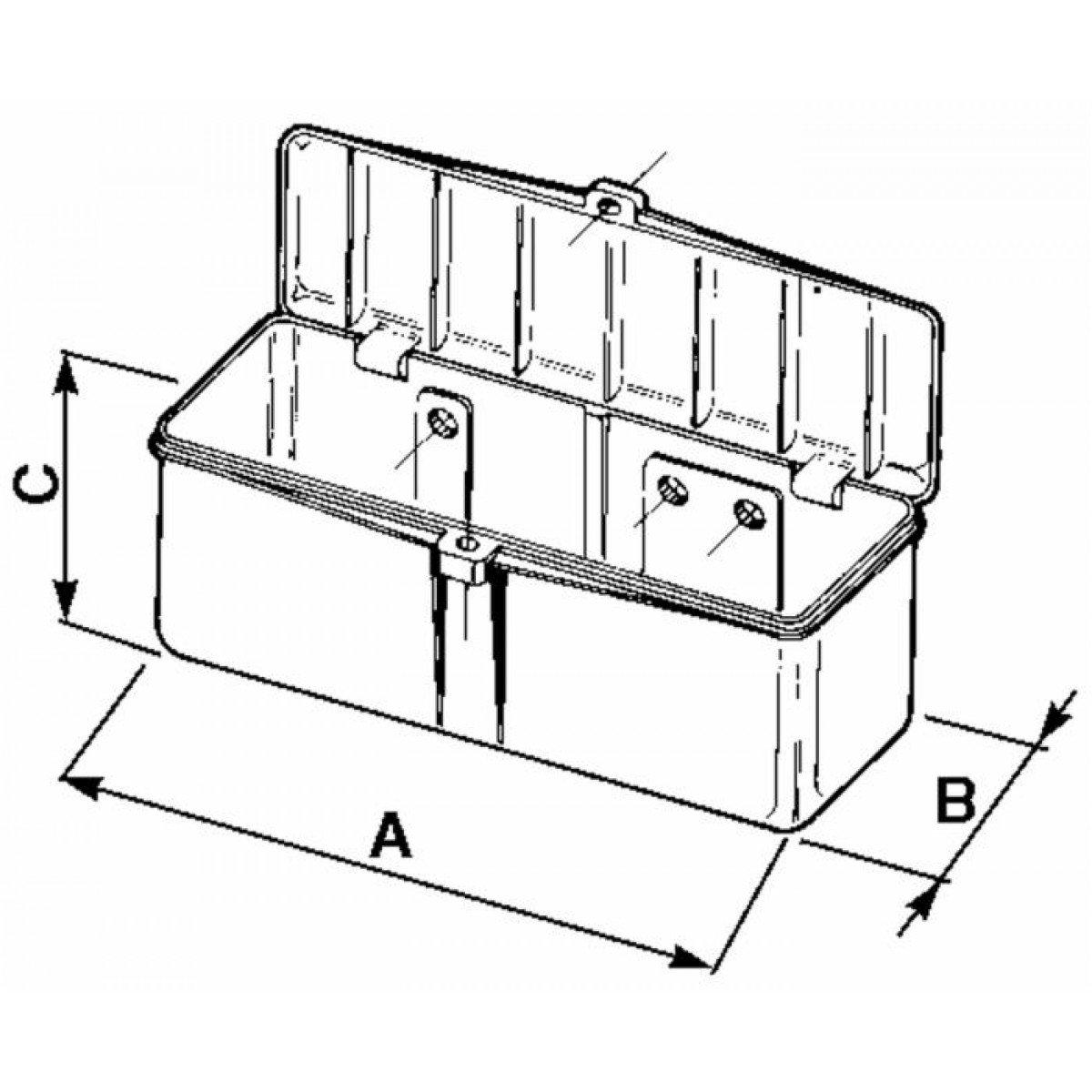 Caja de herramientas de pl/ástico 320/x 150/x 130/mm para fiat-landini de ama