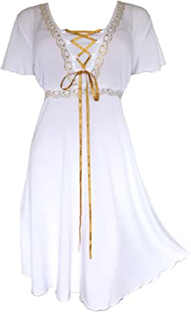 Dare to Wear Victorian Gothic Boho Women's Plus Size Angel Corset Dress