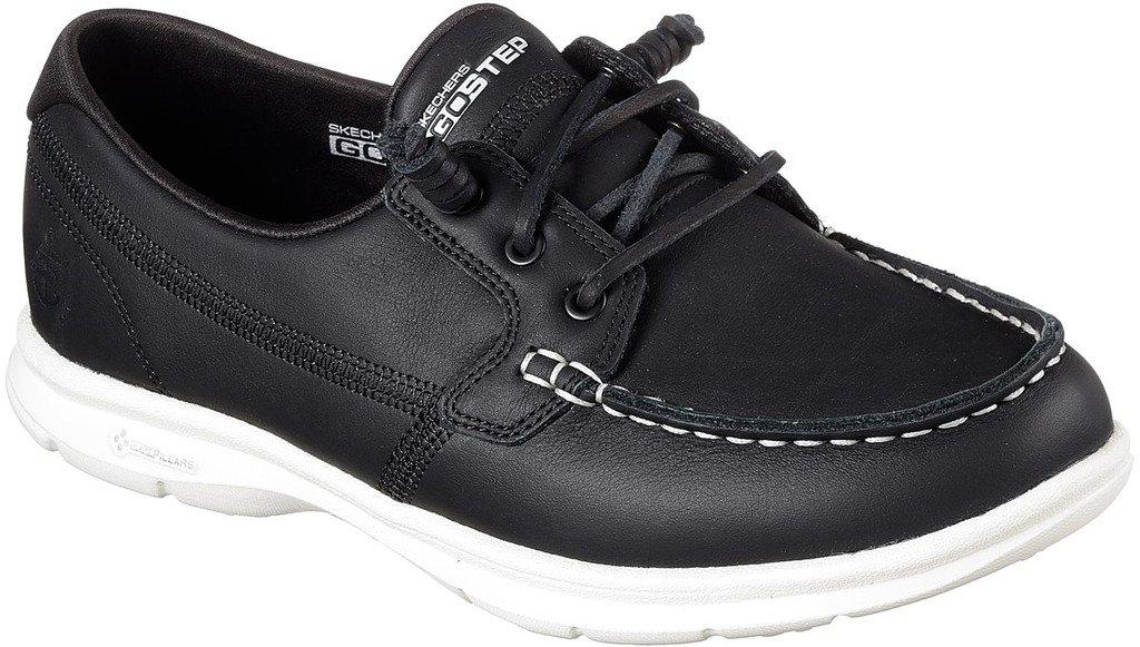 Skechers Womens GO Step - Modish Boat Shoe Black Size 7.5 by Skechers