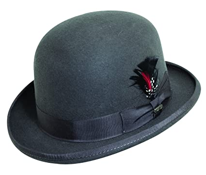 6bf79f49 Image Unavailable. Image not available for. Color: Scala Classico Men's  Wool Felt Derby Hat ...