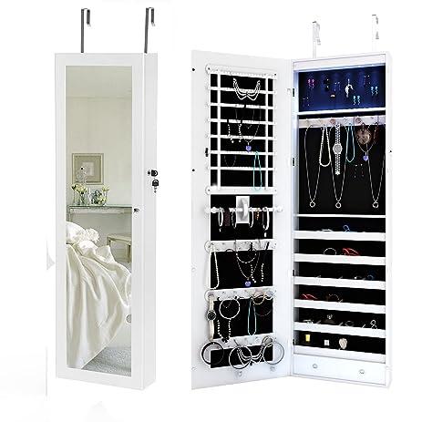 Amazoncom Space Save Jewelry Cabinet Large Storage Capacity