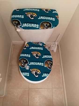 Super Amazon Com Jacksonville Jaguars Fleece Toilet Seat And Tank Forskolin Free Trial Chair Design Images Forskolin Free Trialorg
