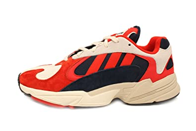 best price on feet shots of good quality adidas YUNG-1 (Chalk White/Core Black/Collegiate Navy) Men's Shoes B37615
