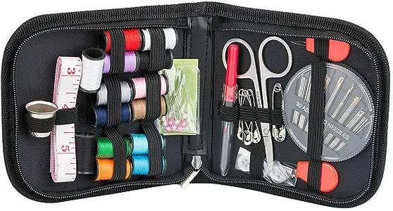 Guilty Gadgets - Kit de Accesorios de Costura portátil para Viajes, Kit para el hogar, Organizador de Suministros de Costura con Tijeras, dedales, Agujas de Costura, Cinta métrica, etc.: Amazon.es: Hogar