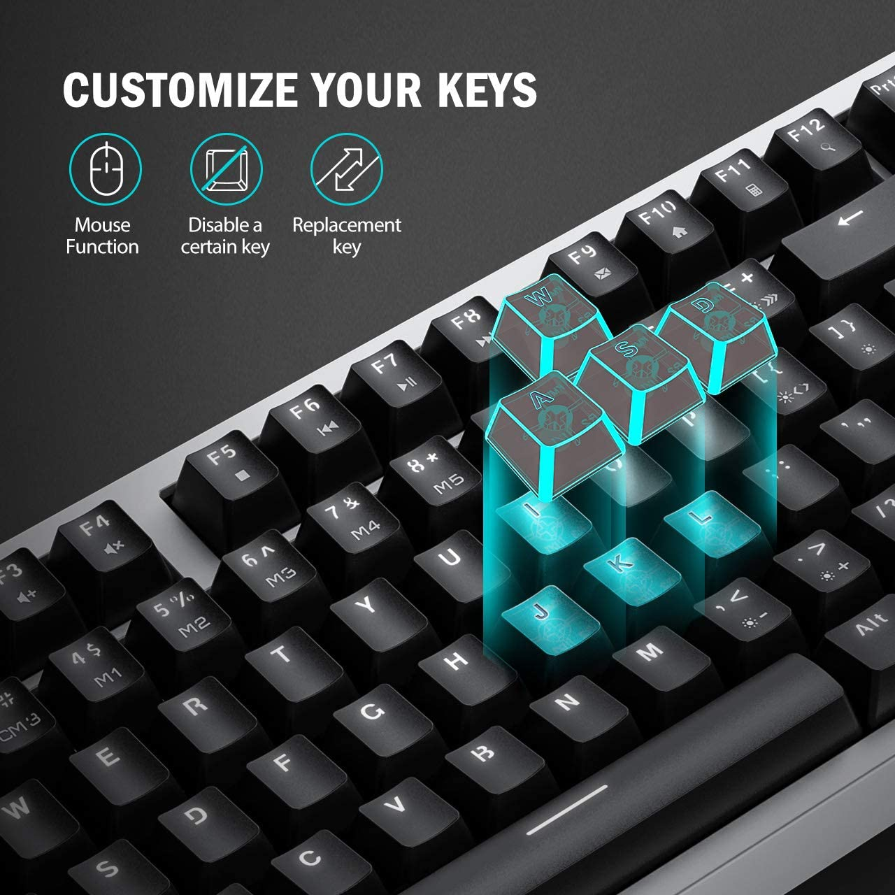 USB Cables Full Anti-ghosting Gaming Keyboard Ten Keyless Wired ...