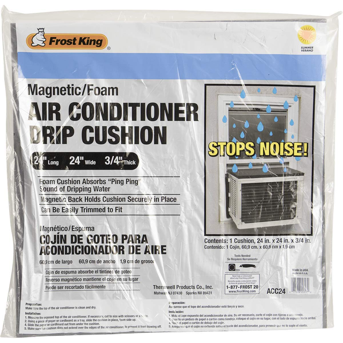 ''Frost'' King Air Conditioner Drip Cushion