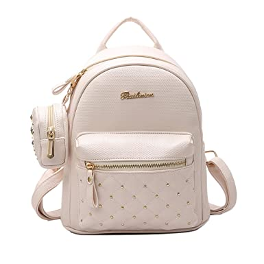 8ca4811dd2ab Image Unavailable. Image not available for. Color  ABage Women s Mini PU  Leather Quilted Travel Cute Backpack Purse ...