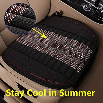 EifBrisa Seat Cushion for Cars, Non-Slip Ventilated Car Seat Pads for Passenger & Drivers Seat, Compatible with 99% Vehicles Easy to Install Seat Covers Against Leather Burn and Jeans Stain: Automotive