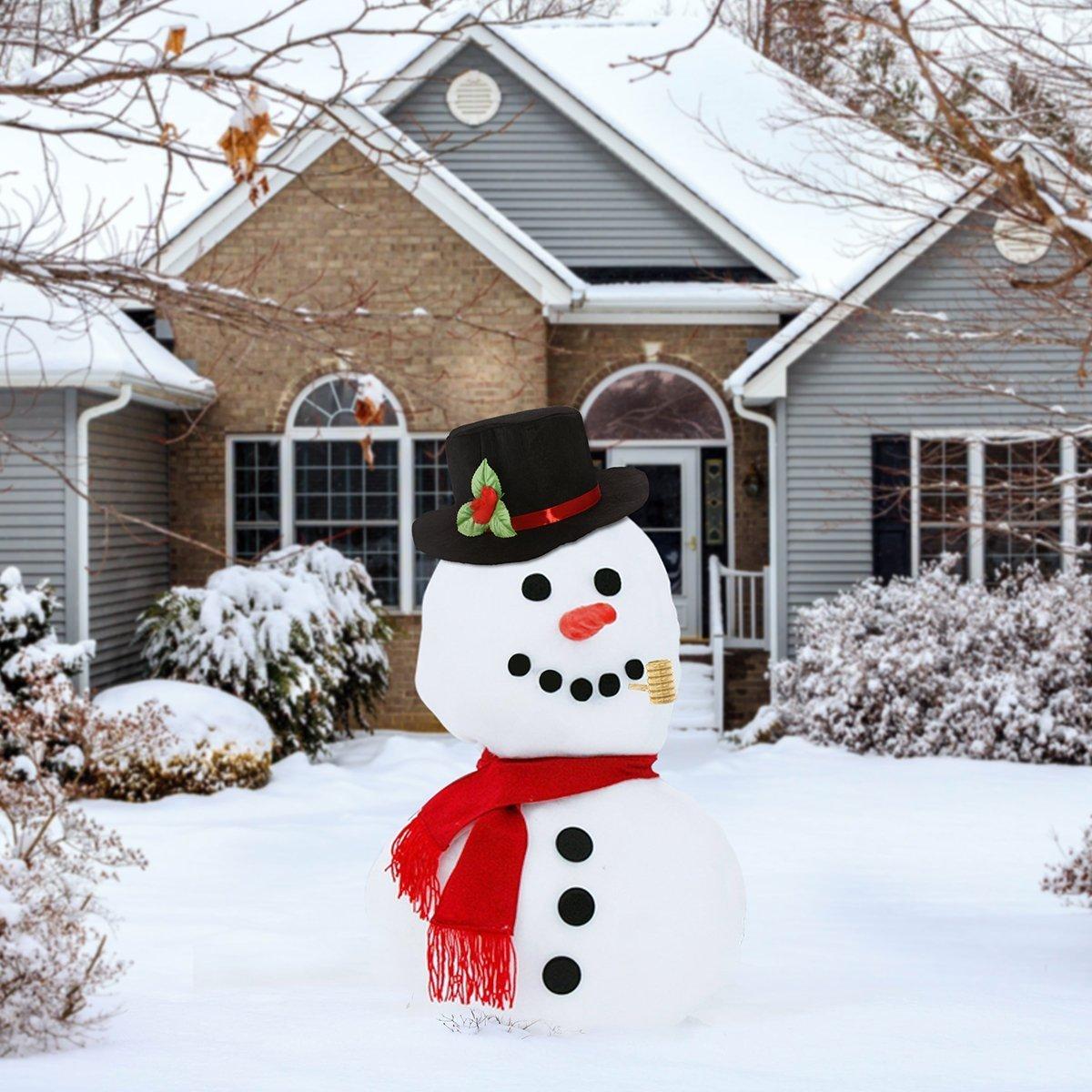 /include cappello sciarpa carrot-nose pipa e punti neri per occhi bocca Buttons Ibasetoy Snowman making kit/