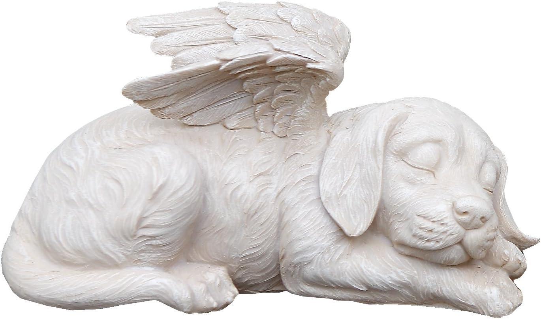 Napco 11144 Sleeping Angel Dog with Wings Garden Statue, 9.75 x 5