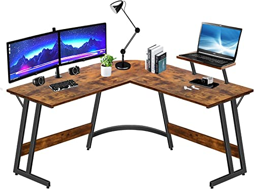 LUFEIYA L Shaped Desk Corner Computer L-Shaped Desk