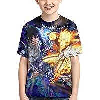 Camiseta de Anime Camiseta de Anime para Niños Camiseta Estampada con Gráficos en 3D Cool Anime Manga Corta para…