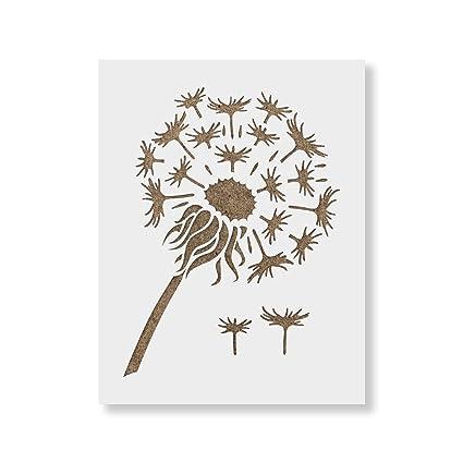 amazon com dandelion stencil template reusable stencil with