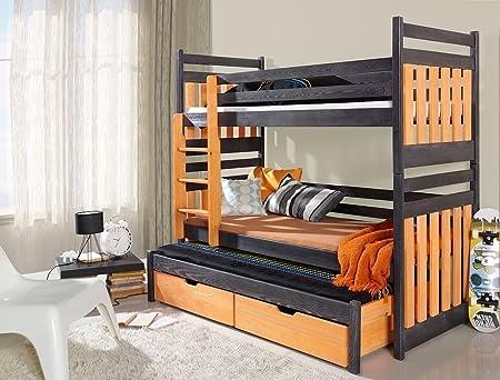 Etagenbett Für 3 : Massivholz kiefer etagenbett liegeflächen ink matratzen