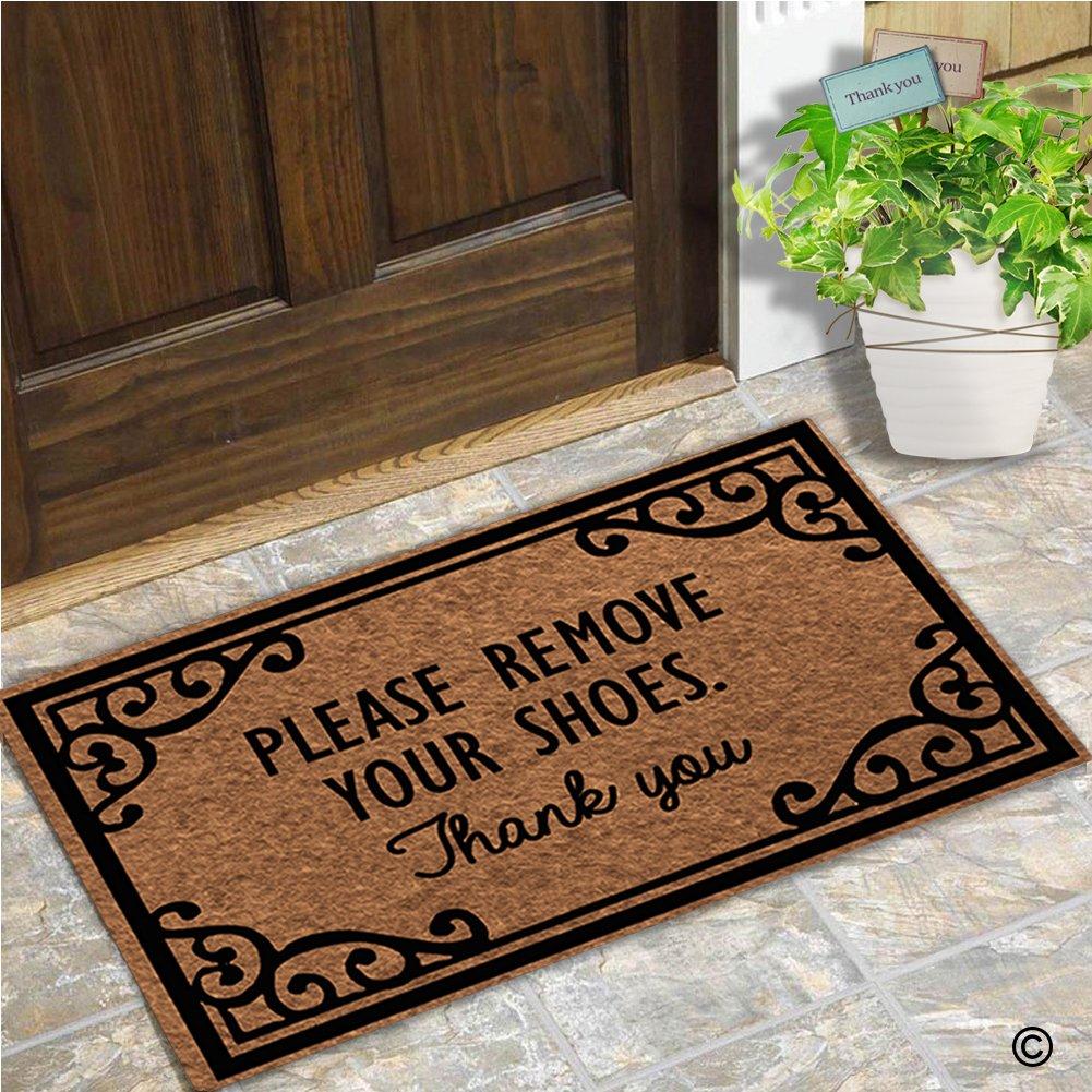 Doormat please remove shoes doormat images : Amazon.com : MsMr Doormat Entrance Floor Mat Please Remove Your ...