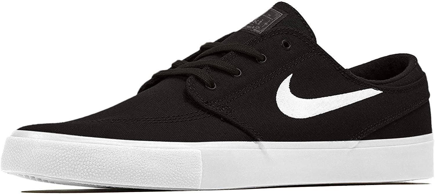 Nike Men's SB Zoom Stefan Janoski Skate Shoes Black/White-Thunder Grey 10.5  M US