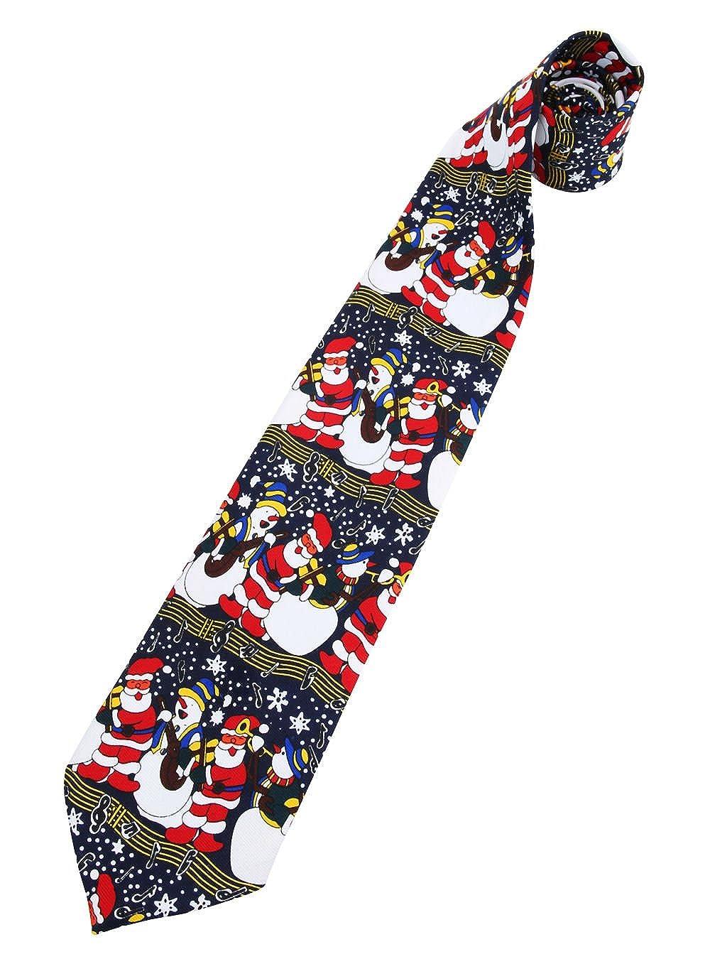 Christmas Shop - Corbata de Navidad musical Papá Noel y muñeco de ...