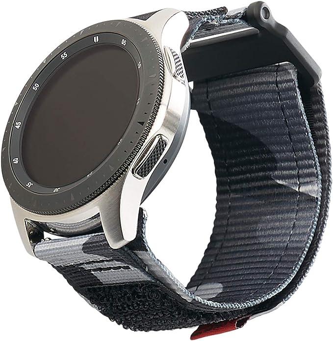 Urban Armor Gear Active Strap Correa Samsung Galaxy Watch3 45mm, Watch 46 mm, Gear S3 Frontier & Classic, Active 2 44 mm (Diseñado para Samsung Smartwatches, Correa reemplazable) - negro (camo): Amazon.es: Electrónica