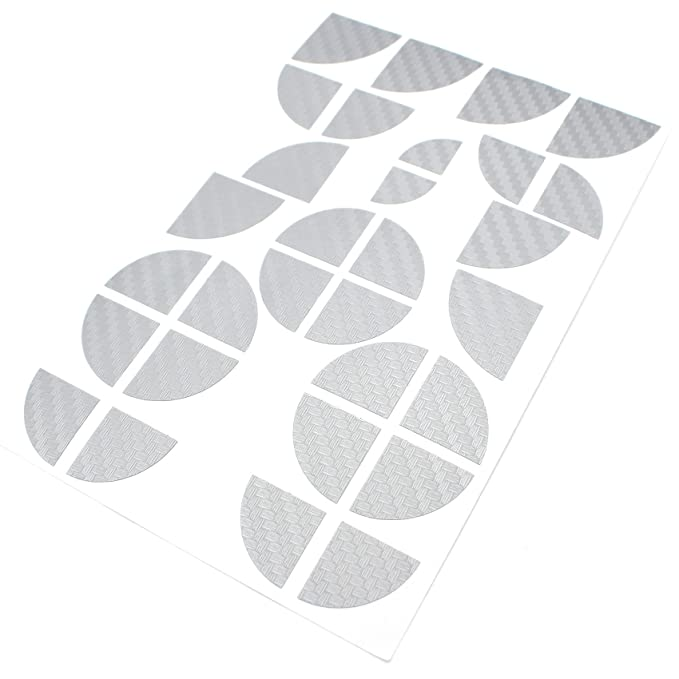 Blau Chrom Finest-Folia 4D Carbonfolie Emblem Ecken Aufkleber