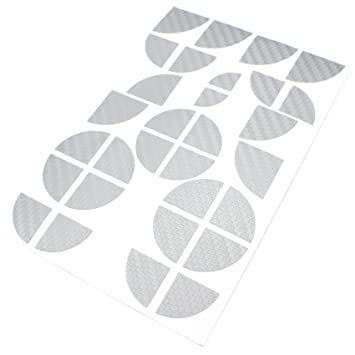 Gold Wei/ß Finest-Folia 4D Carbonfolie Emblem Ecken Aufkleber