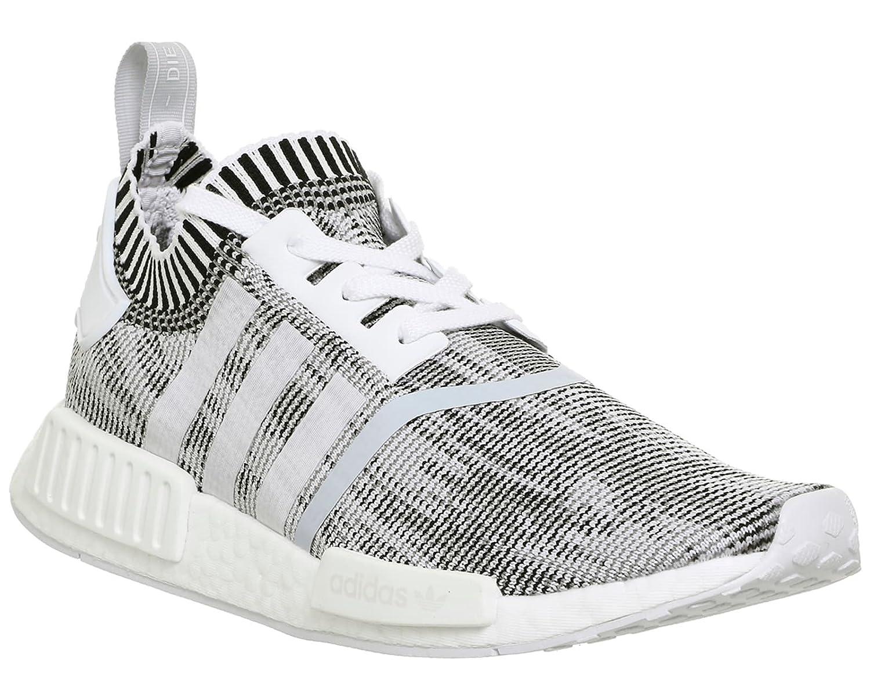 Adidas NMD_r1 Primeknit, Zapatillas de Entrenamiento para Mujer 37 1/3 EU|Blanco