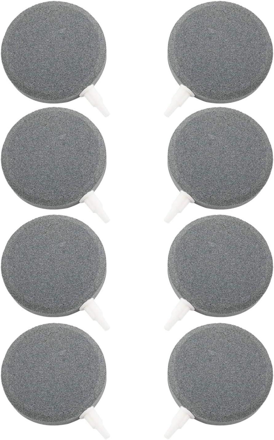 """DasMarine 8 Pack Air Stones 3"""" Air Stone Bubble for Aquarium Fish Tank Decor Hydroponics Airstones Air Disk Stones"""