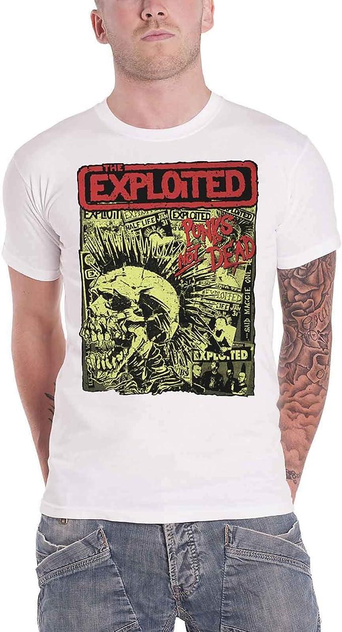 Vintage Skull T-Shirt THE EXPLOITED Charcoal