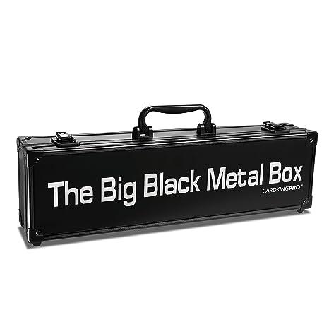Grandes cajas de metal negro