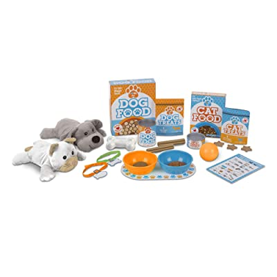 Melissa & Doug Feed & Play Pet Treats Play Set: Toy: Toys & Games