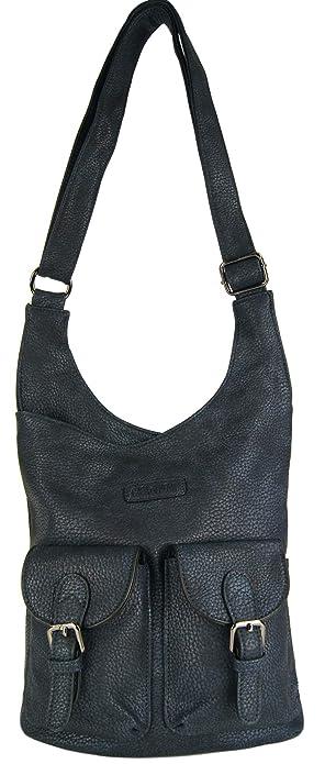 95d22717ecf28c CASAdiNOVA Damen Handtasche Grau - Große Umhängetasche Damen Leder Vegan -  Moderne Crossover Bag für Frauen