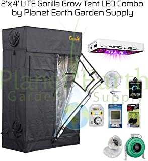 Gorilla Grow Tent LITE (2u0027 x 4u0027) LED Combo Package #2  sc 1 st  Amazon.com & Amazon.com : Gorilla Grow Tent (3u0027 x 3u0027) LED Combo Package #1 ...