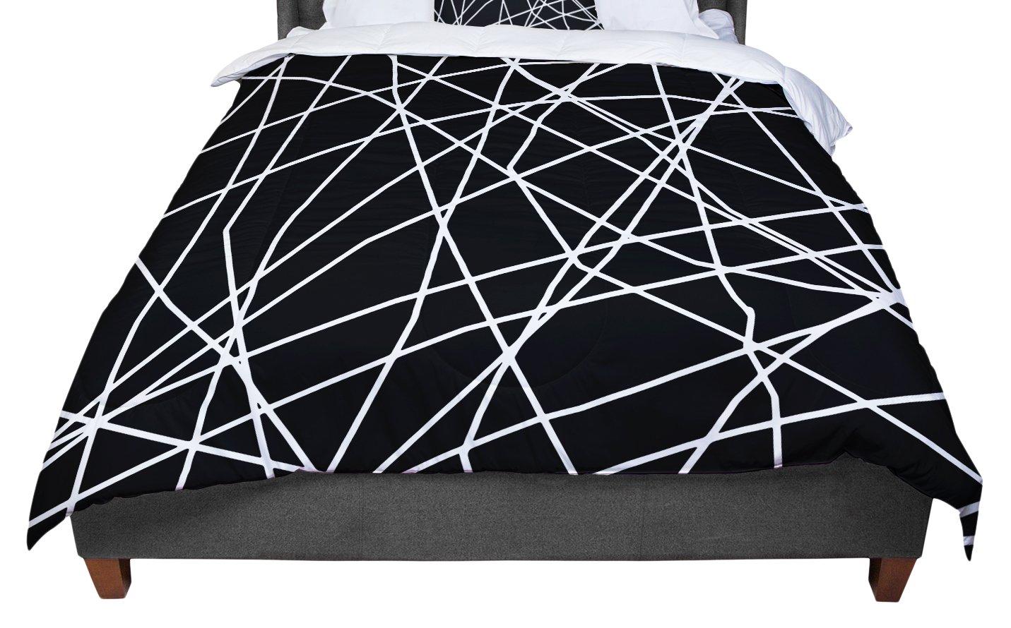 KESS InHouse Trebam Paucina Crazy Lines King Cal King Comforter 104 X 88