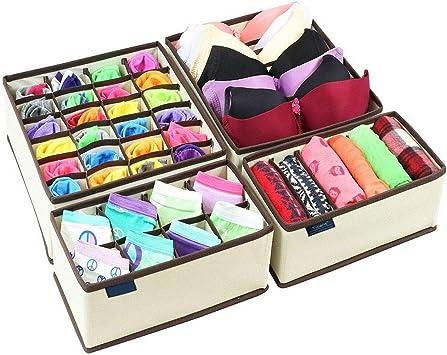 Caja de almacenamiento para ropa interior, separadores de cajones, calcetines para guardar ropa interior, corbatas: Amazon.es: Bricolaje y herramientas