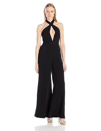 5d49804b36c Amazon.com  Jill Jill Stuart Women s Halter Keyhole Jumpsuit  Clothing
