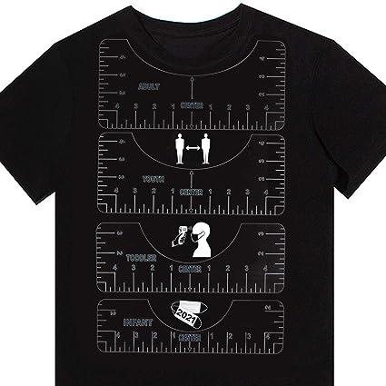 Rolin Roly 4pcs Herramientas de Alineaci/ón de Camisetas PVC Regla de Alineaci/ón de Camisetas T-Shirt Ruler Regla de Gu/ía Adulto Ni/ño Peque/ño Beb/é