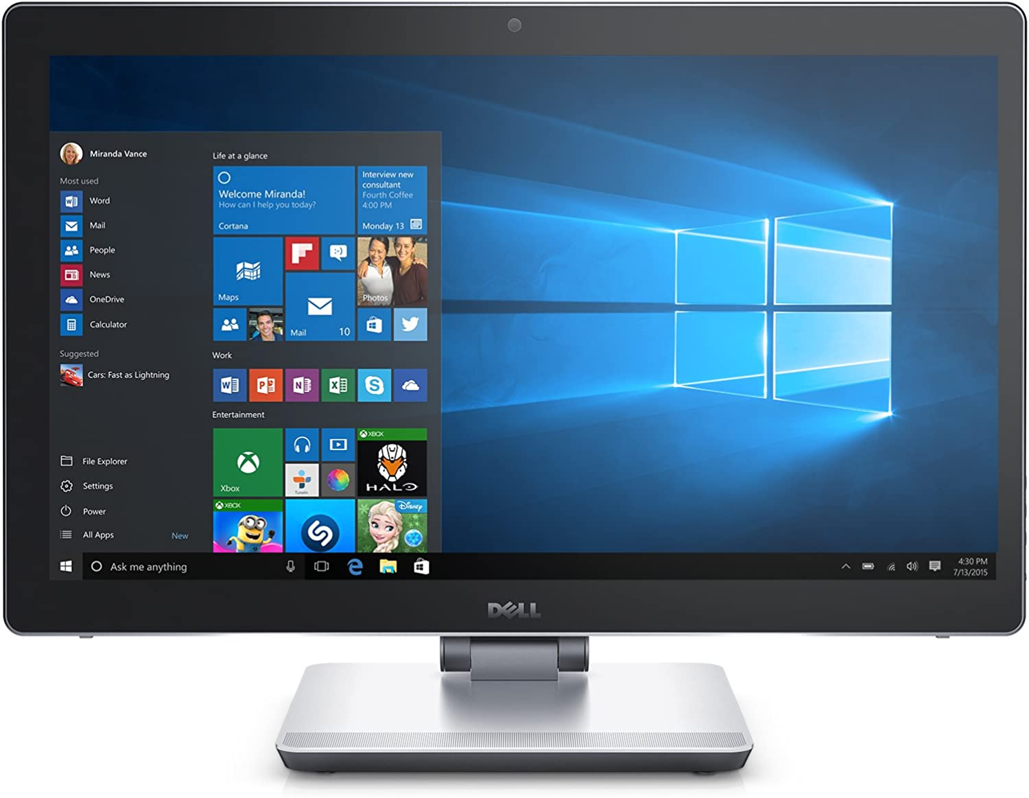 Dell Inspiron i7459-7070BLK 23.8'' FHD Touchscreen All-in-One (6th Generation Intel Core i7, 16 GB RAM, 1 TB HDD + 32 GB SSD)