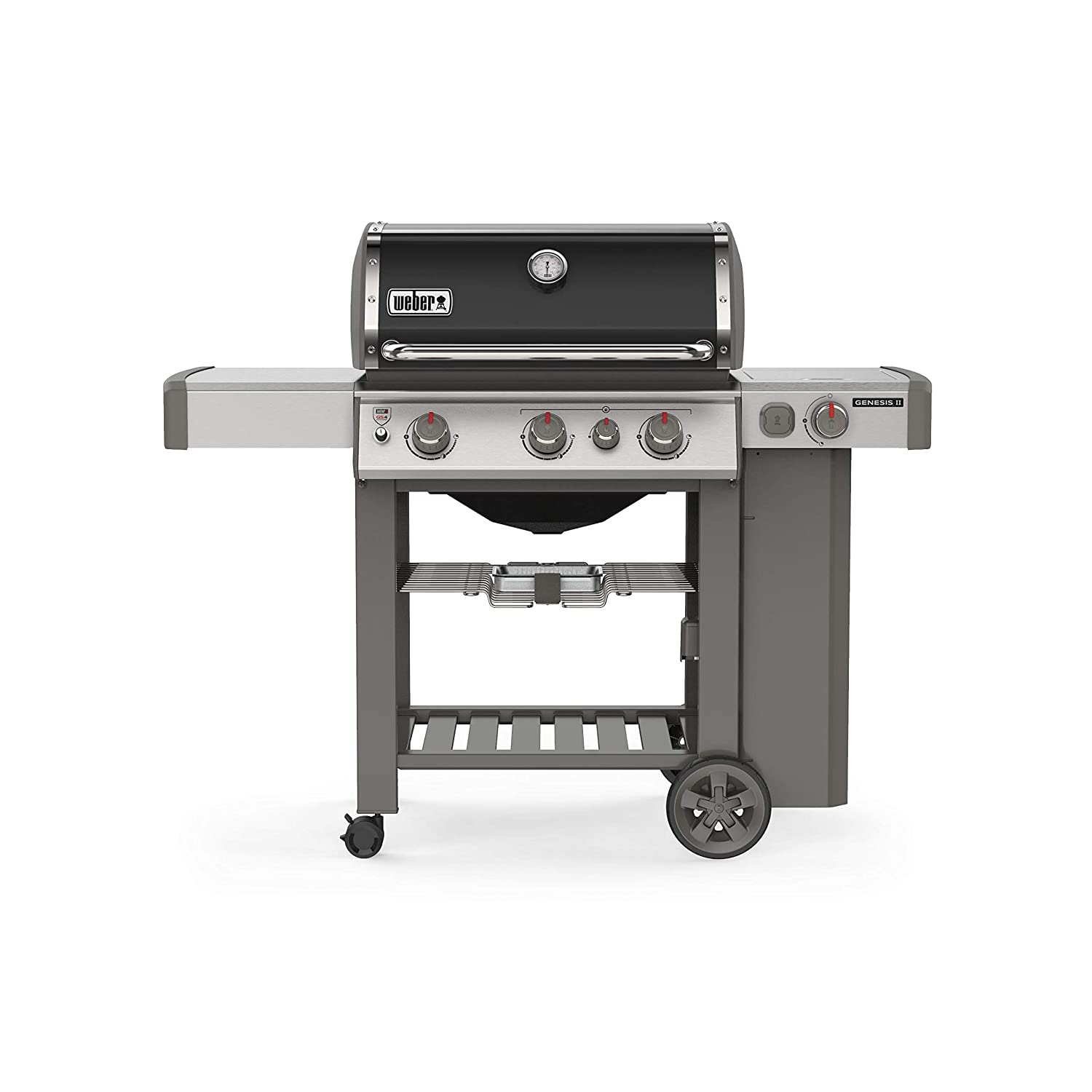 weber genesis e-330 38,000 btu 3-burner gas grill with side burner