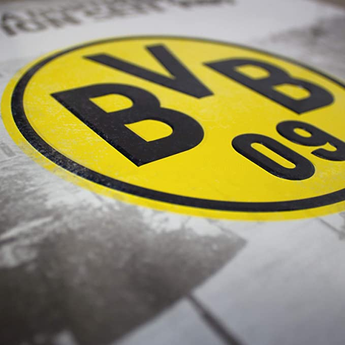 """Borussia Dortmund  Blechschild Deko /""""Tradition seit 1909/"""""""