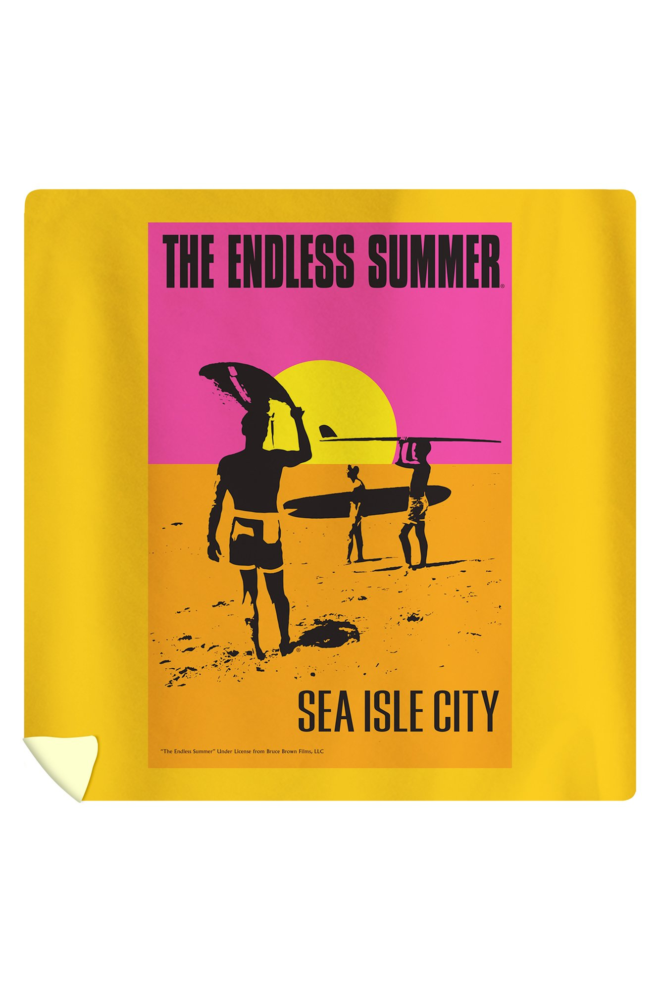 Sea Isle City, New Jersey - Endless Summer - Original Movie Poster (88x88 Queen Microfiber Duvet Cover)