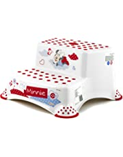 Plastimyr Minnie - taburete con doble escalón, color blanco