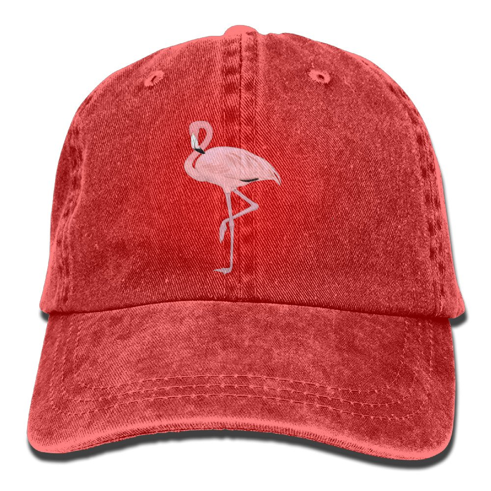 LLTL Pink Flamingo Design Washed Retro Cowboy Hat