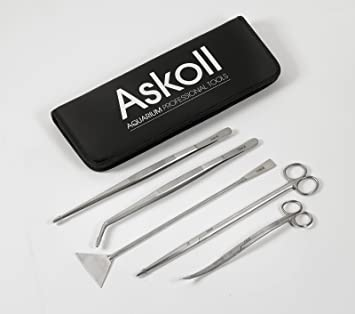 Askoll - Kit de accesorios para cuidado de acuarios (incluye tijeras, pinzas y espátula): Amazon.es: Deportes y aire libre