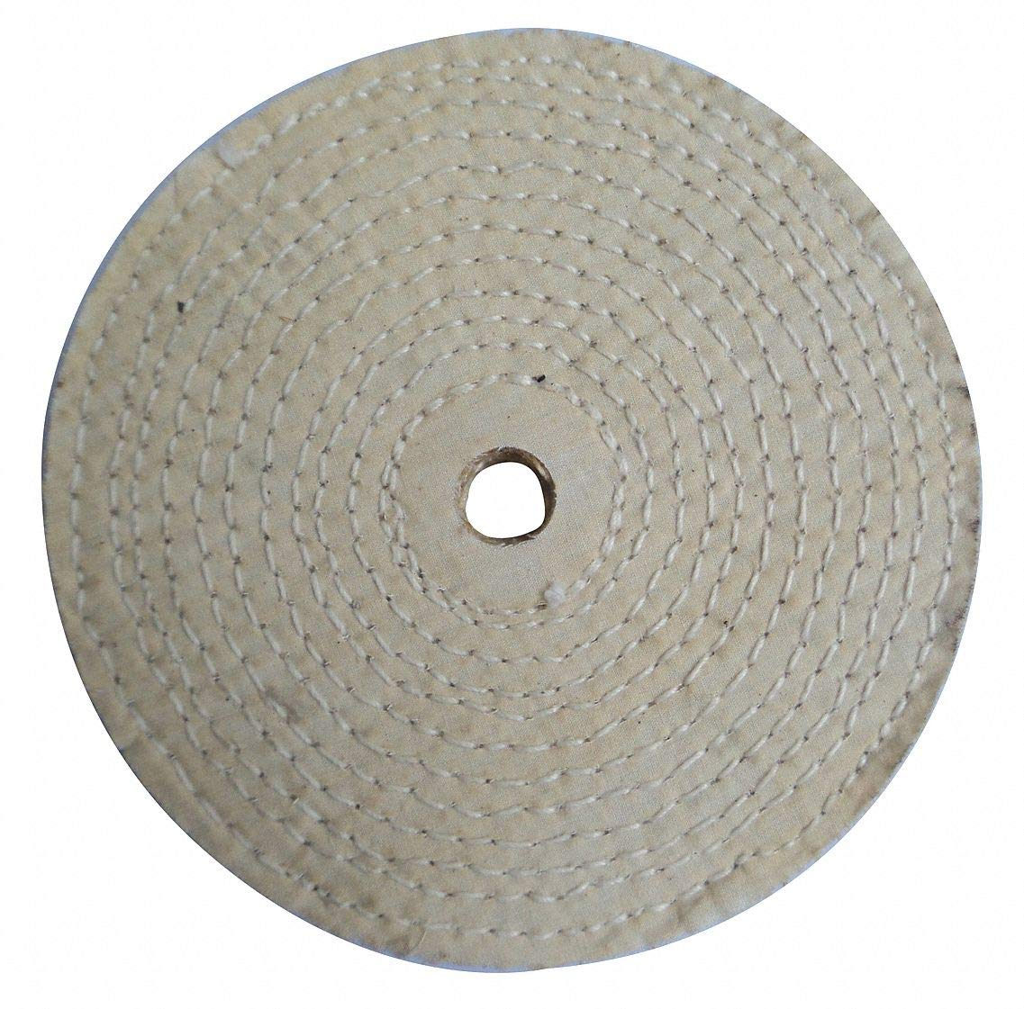 Buffing Wheel, Spiral Sewn, 10 In Dia. - pack of 5