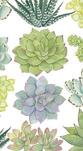 Disposable Hand Towels, Decorative Paper Guest Towels for Bathroom or Paper Napkins Dinner Napkins Cactus Decor Succulents Pak 30