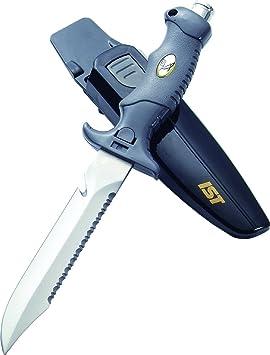 IST Proline K-09 - Cuchillo de buceo (hoja de acero inoxidable 420 y 14 cm de largo)
